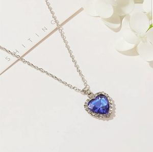 New Titanic blue love heart forever necklace!!!